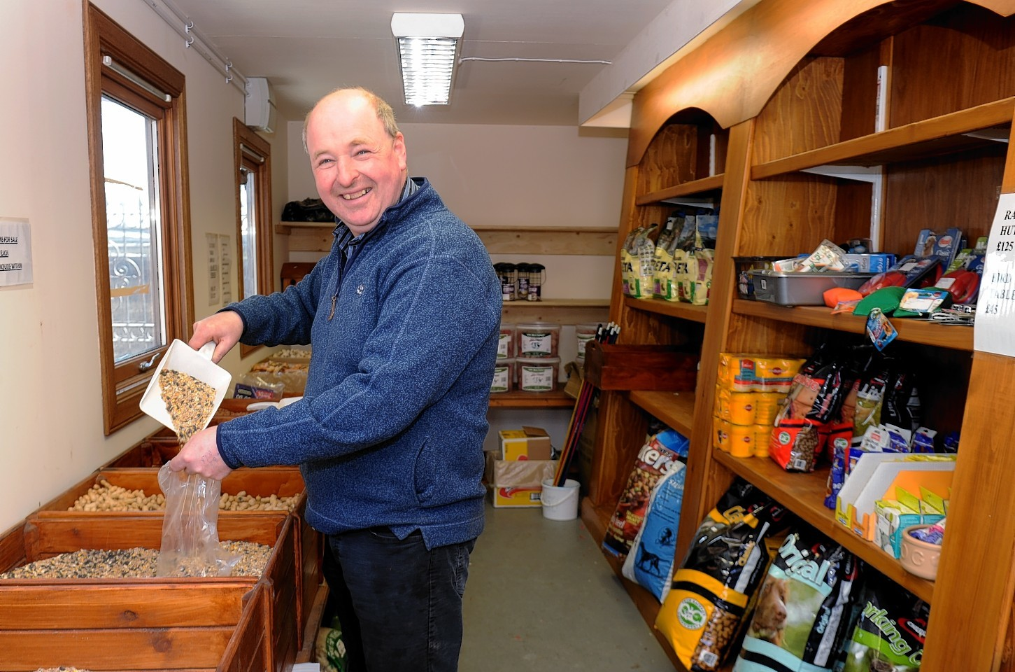 Kenneth Marshall, of Marshall's Farm Shop near Kintore