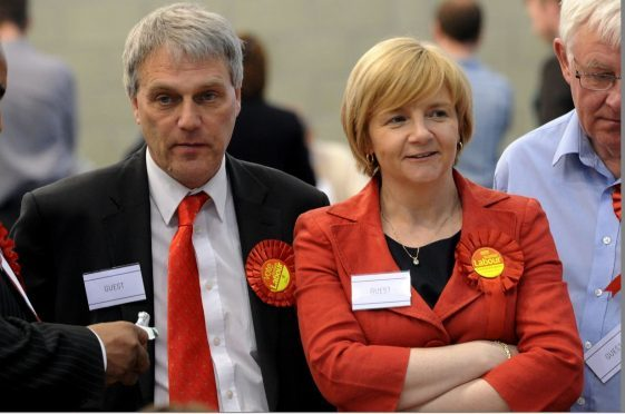 Aberdeen Labour councillors Willie Young, Jenny Laing and Ramsay Milne. Picture by Kenny Elrick