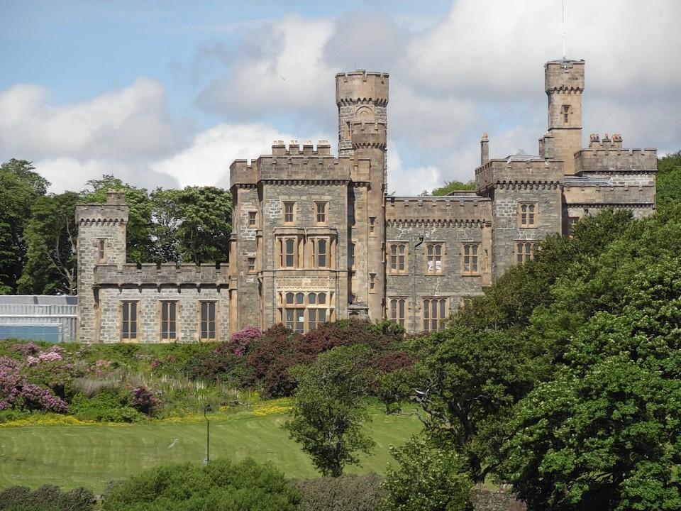 Lews Castle overlooks Stornoway.
