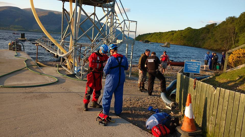 Rescue of kayakers at Loch Lochy in Lochaber