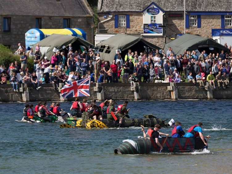 RAF Lossiemouth's raft race will go ahead this year after last year's disappointment.