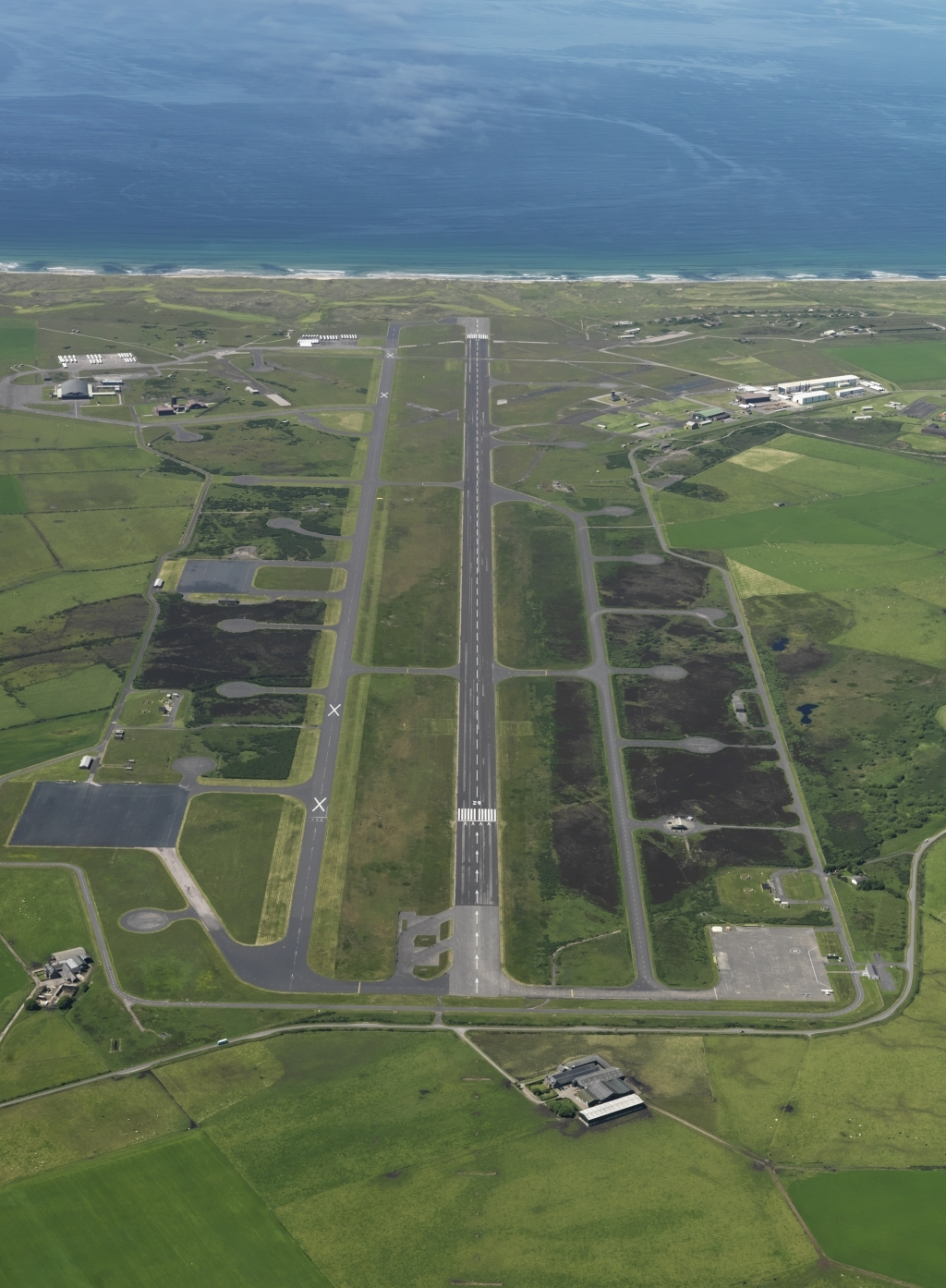 The runway at Machrihanish near Campbeltown