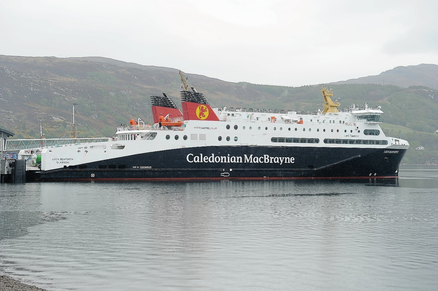 The MV Loch Seaforth berthed in Ullapool