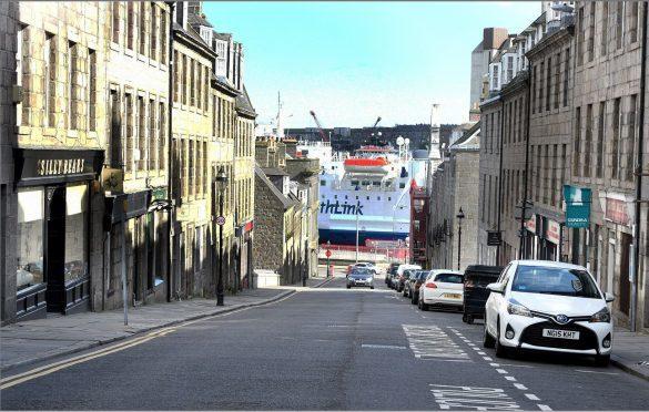 Marischal Street. Picture by Jim Irvine