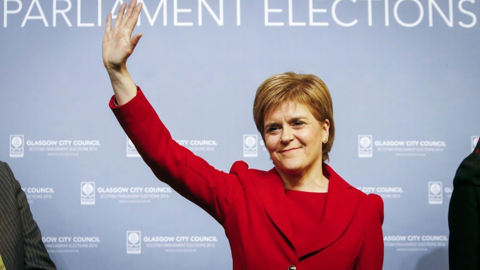 Nicola Sturgeon has been returned as First Minister following a vote by MSPs