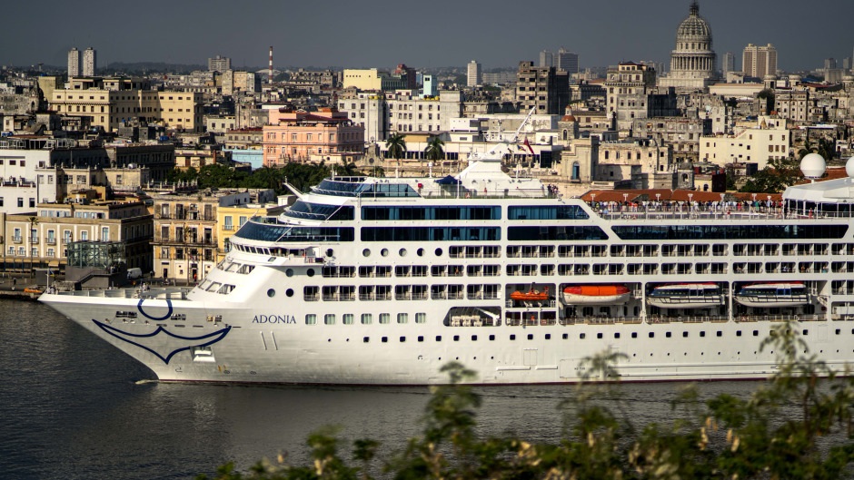 Carnival's Adonia cruise ship arrives from Miami in Havana, Cuba (AP)