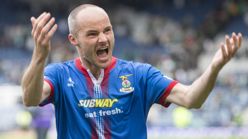 David Raven won the Scottish Cup with Inverness in 2015