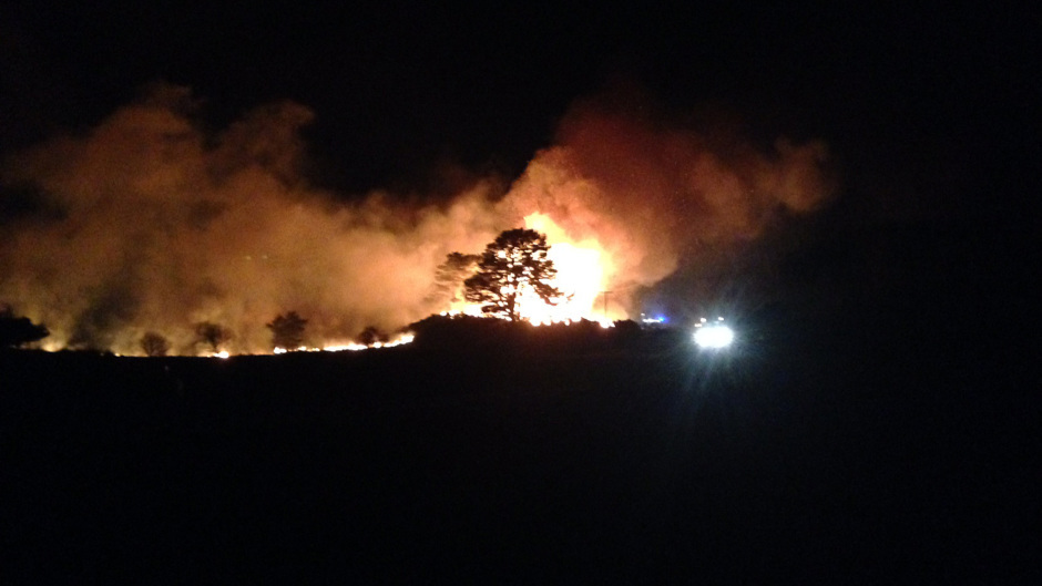 A wildfire in Sutherland last year that covered 2.7 square miles