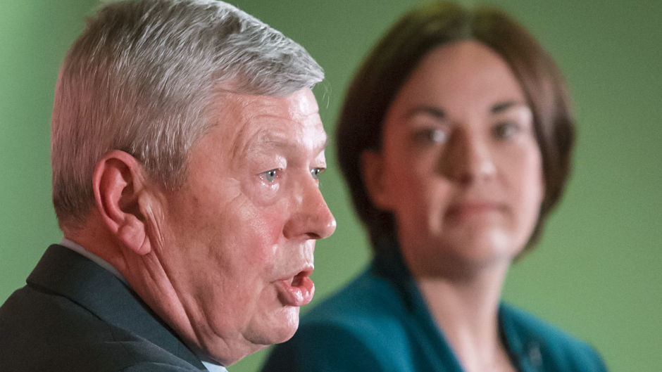 Scottish Labour leader Kezia Dugdale, right, joined Labour In for Britain chair Alan Johnson for the launch of Labour In for Scotland