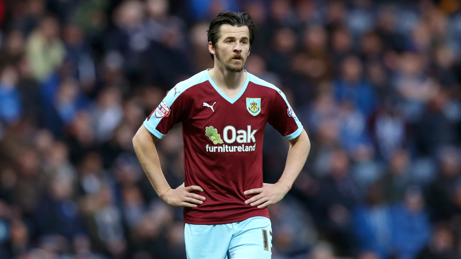 Barton made 40 appearances for Burnley this season, scoring three goals
