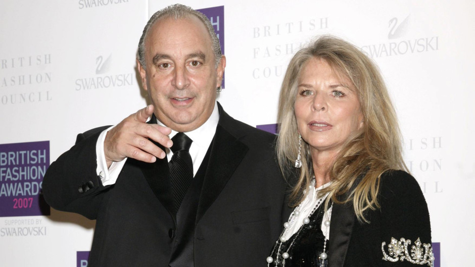 Sir Philip Green and his wife Tina