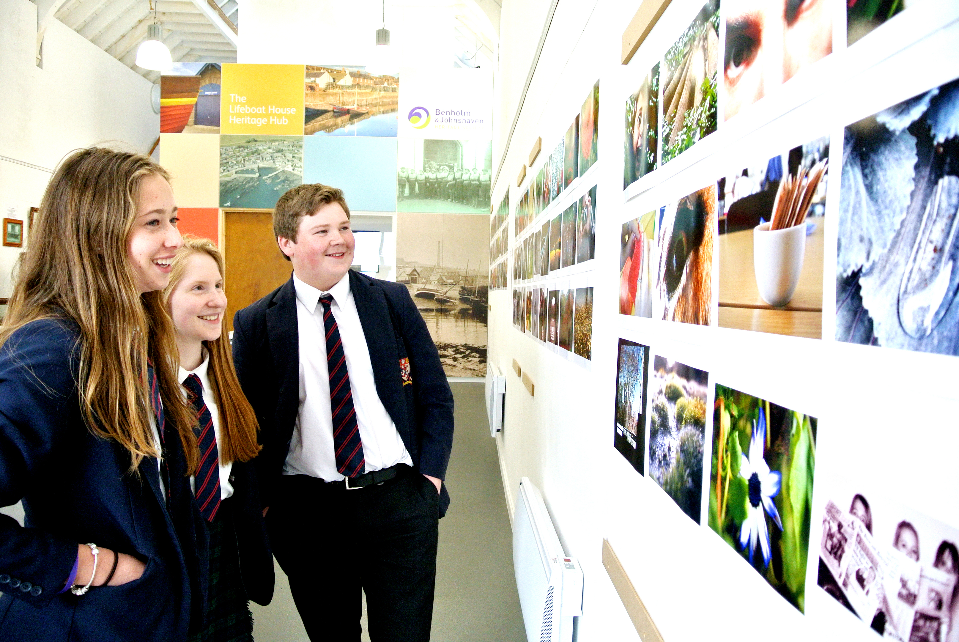 Photographed (l-r): Phoebe Verstralen, Darcey Axon and Ian Lockhead Anderson