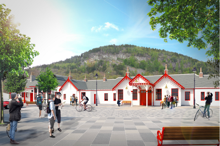 First look at how new Ballater Royal Station could look