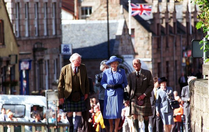The Queen in Ballater