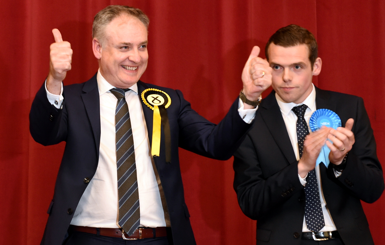 Richard Lochhead beat Douglas Ross to be Moray MSP with a significantly reduced majority.