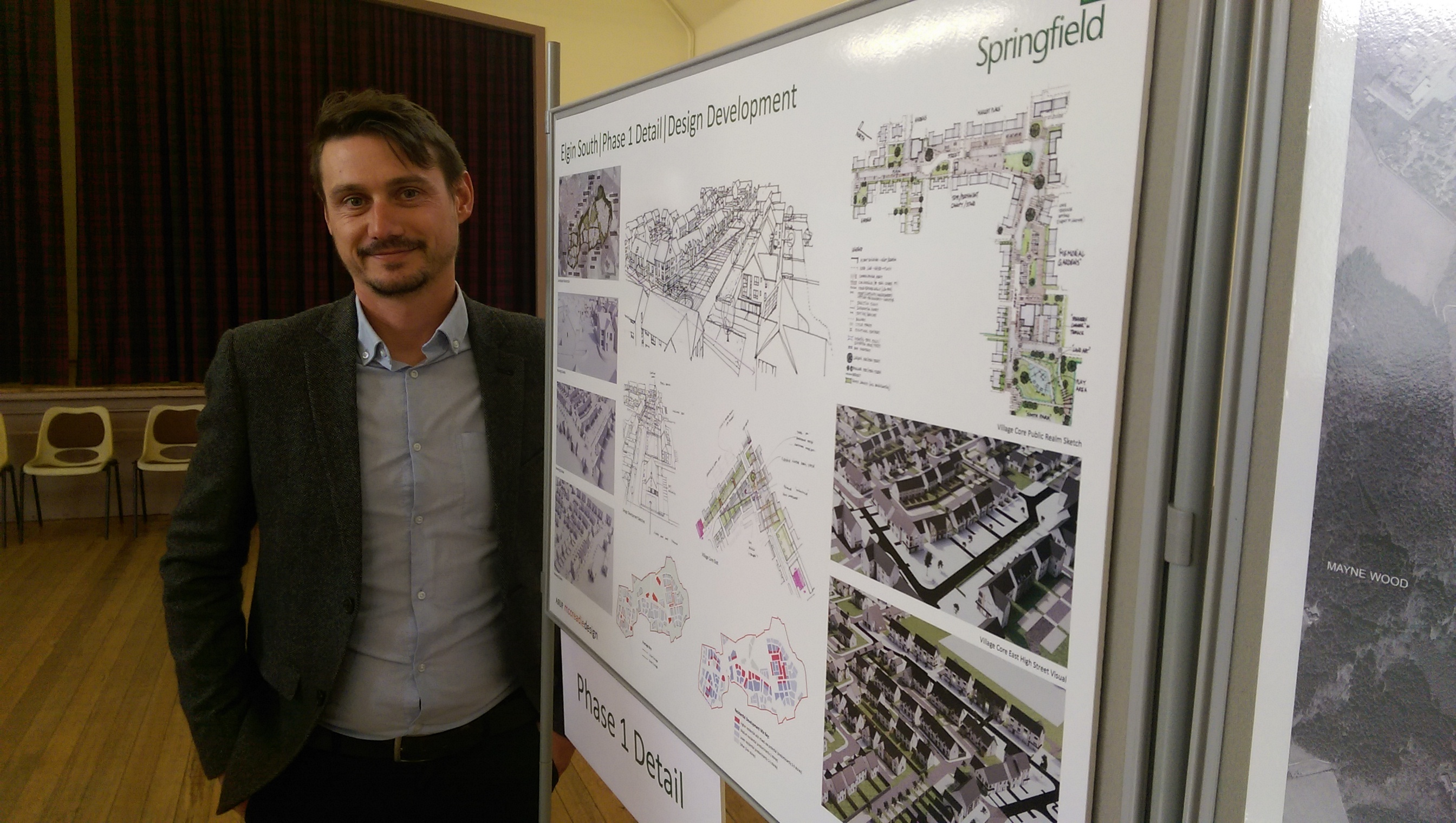 Springfield Properties' land manager Robert Grant at the exhibition.