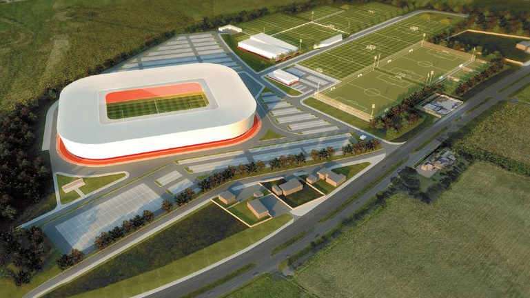 Artist impression of plans for the new Dons stadium