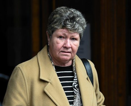 Shirley Goldie outside Aberdeen Sheriff Court. Picture by Kenny Elrick
