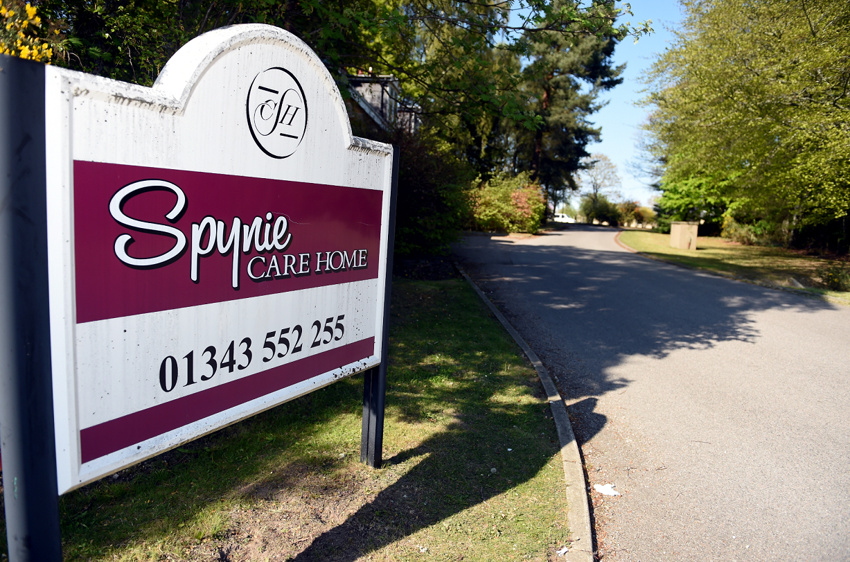 Entrance to Spynie Care Home in Duffus Road, Elgin.