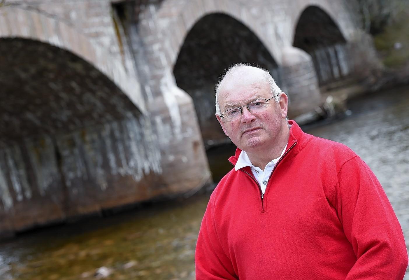 Ballater Flood Group co-ordinator Tony Cox