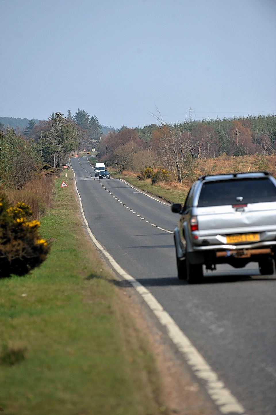 The A96 near Alves