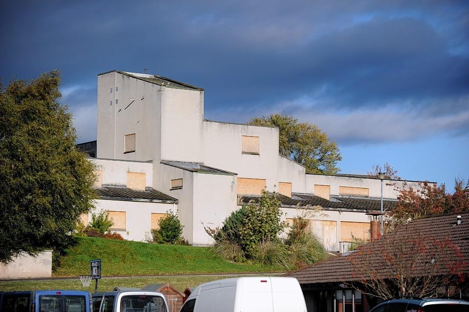 The derelict Bishopmill House