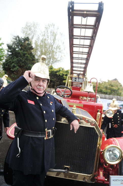 Maurice Dodd and the old fire engine at last year's open day