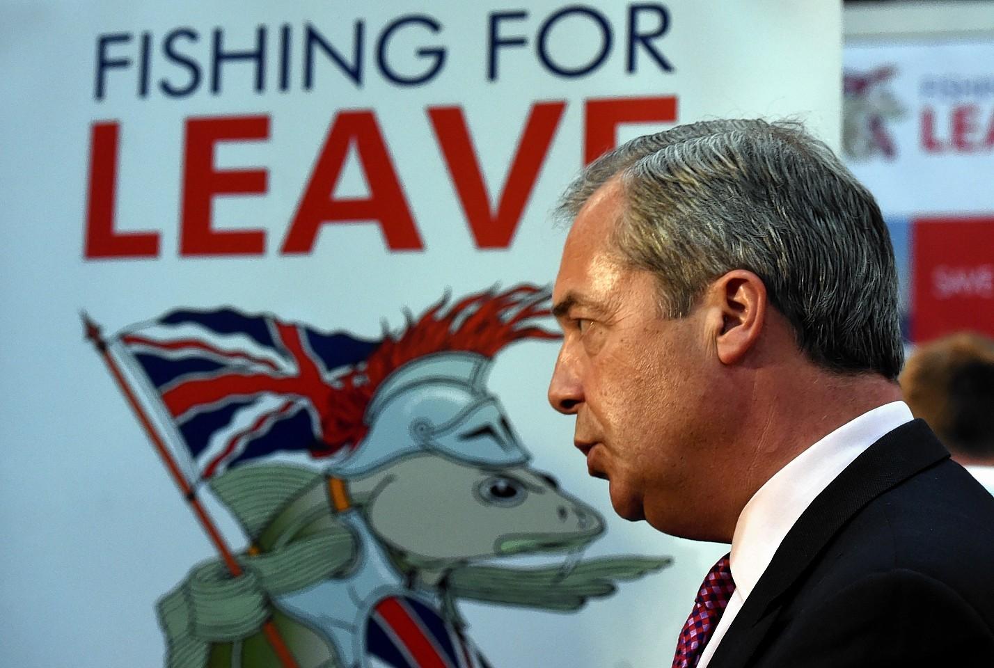 Nigel Farage at the Scottish Skipper Expro International at AECC