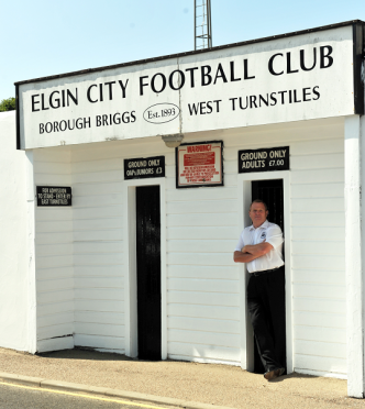 Elgin City chairman Graham Tatters outside Borough Briggs.