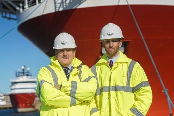 James Murphy, left, and his son, Jamie, of Navitas Compliance Solutions at Peterhead.