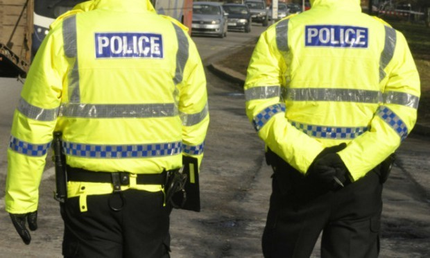 Police were called to the scene at 5.25pm