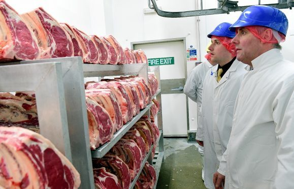 The Raeburns judging the steaks