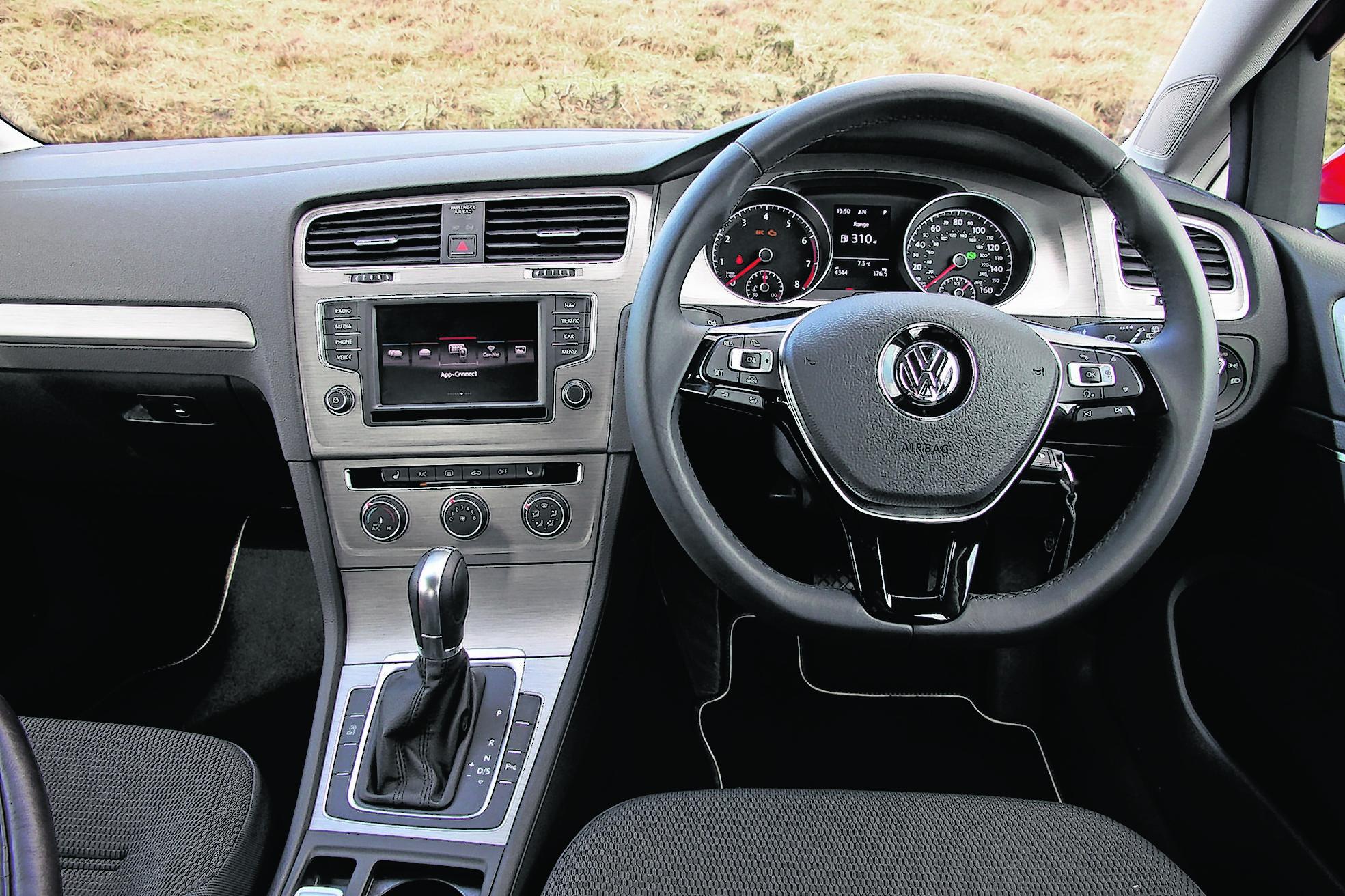 2016 Volkswagen Golf Match BlueMotion Edition interior (Matt Kimberley/PA)