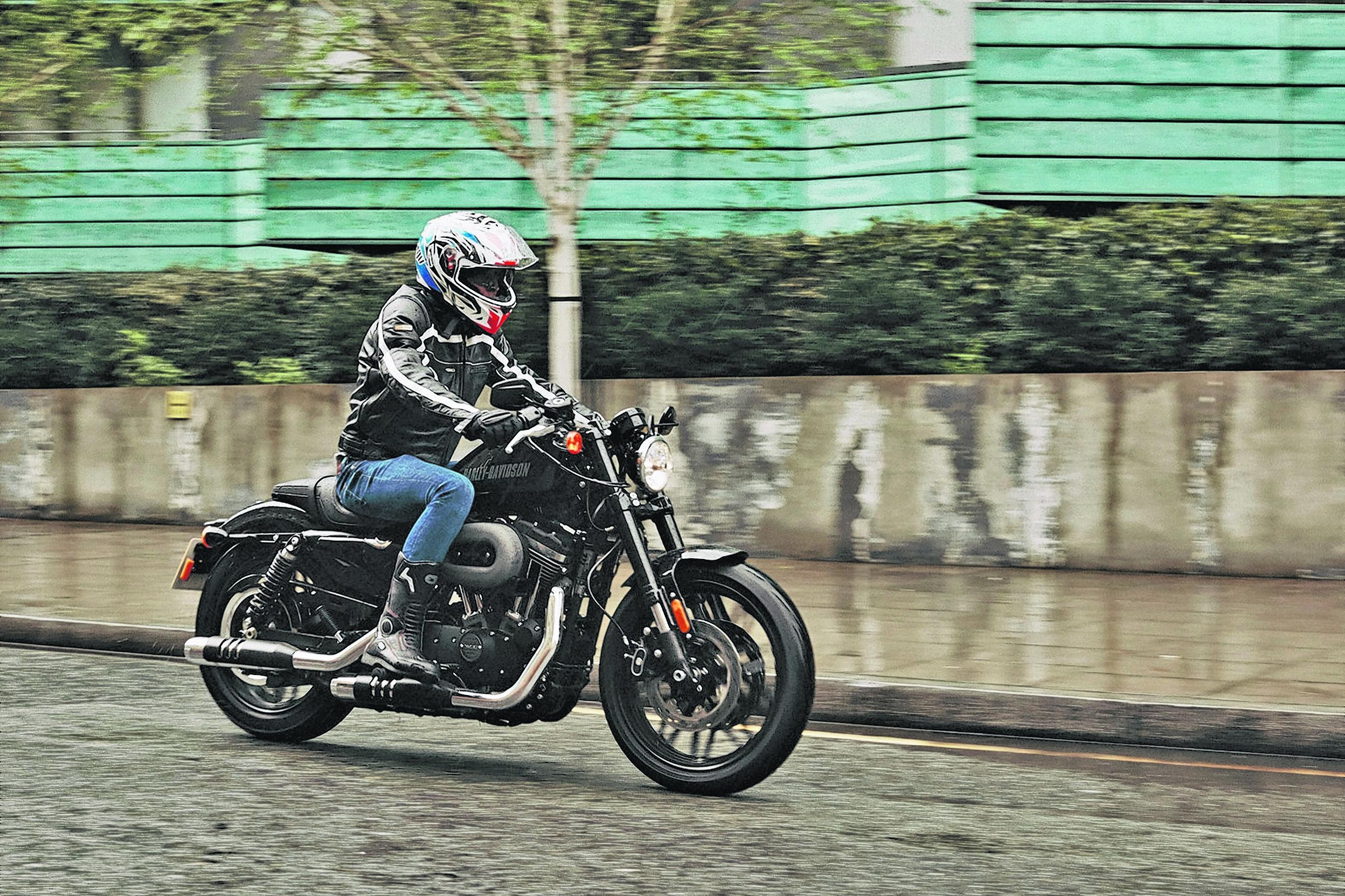 Matt Kimberley aboard the 2016 Harley-Davidson Roadster (James A. Grant/Harley-Davidson)