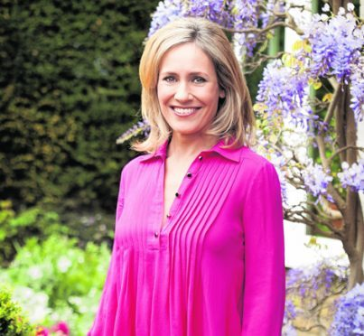 She's in her 40s, juggling a hectic work and family life, but newsreader and Chelsea Flower Show host Sophie Raworth has no complaints