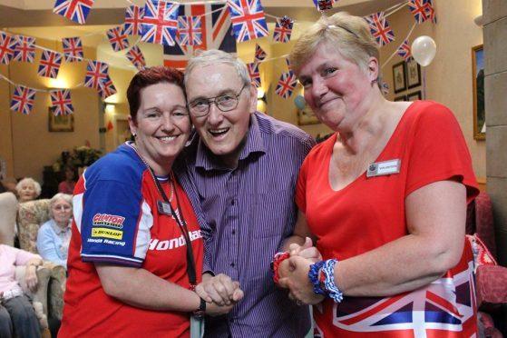 L-R Fiona Simpson, Jimmy McLean, Margaret Evans
