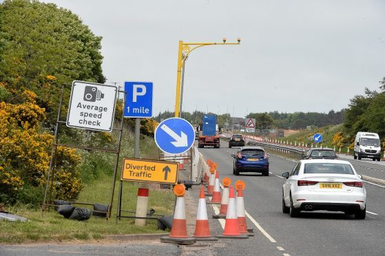 Average speed cameras are already in place on the A90 Aberdeen to Ellon road