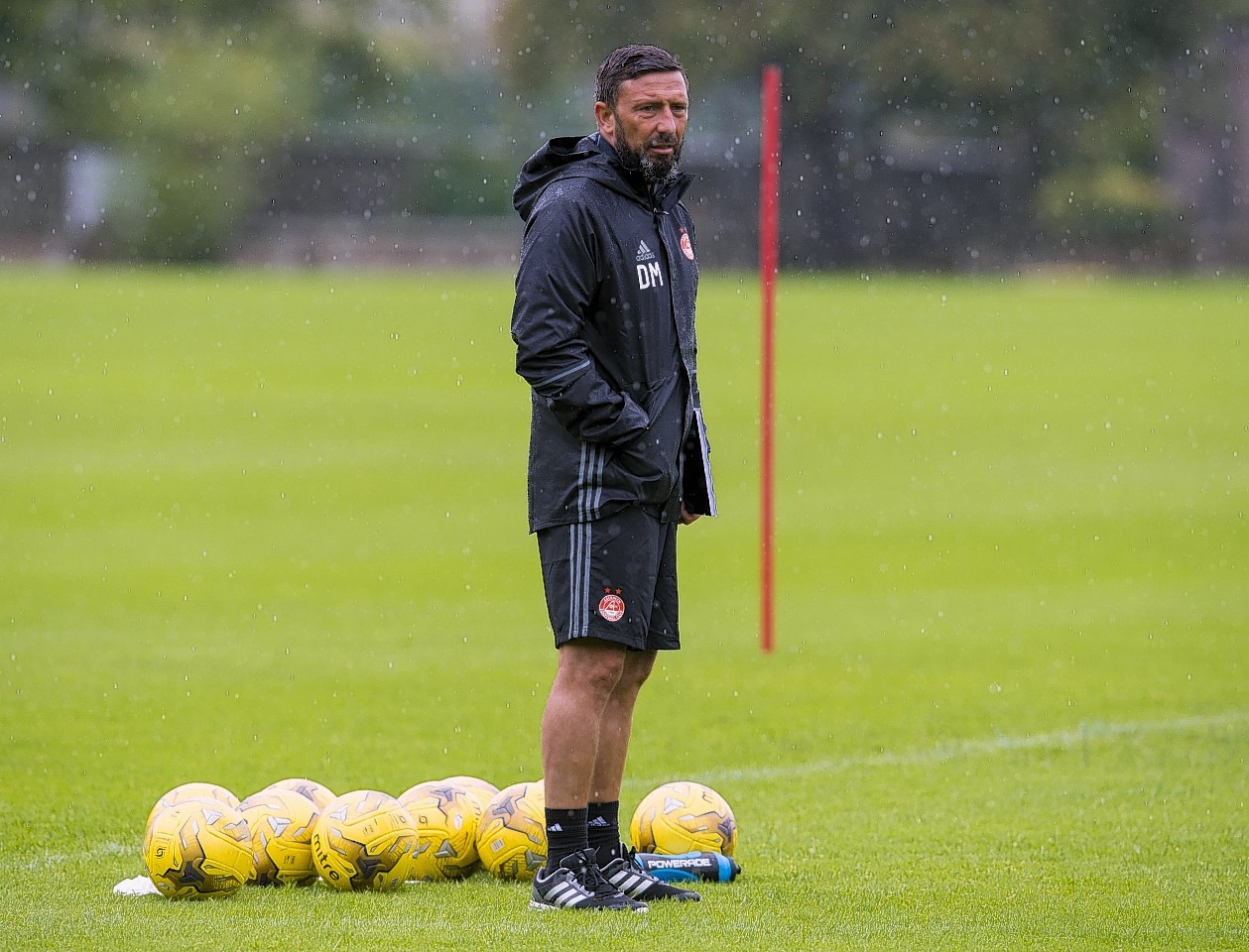 Dons manager Derek Mcinnes watched his side beat Brechin