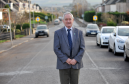 Council convener Allan Wright on Wittet Drive in Elgin, where the Western Link Road was proposed to go.