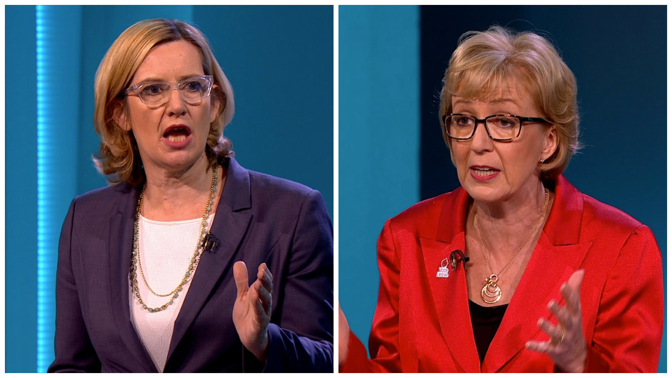 Andrea Leadsom and Amber Rudd went up against each other