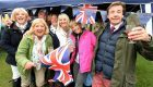 Locals enjoy the Ballater Street Party. Credit: Jim Irvine.