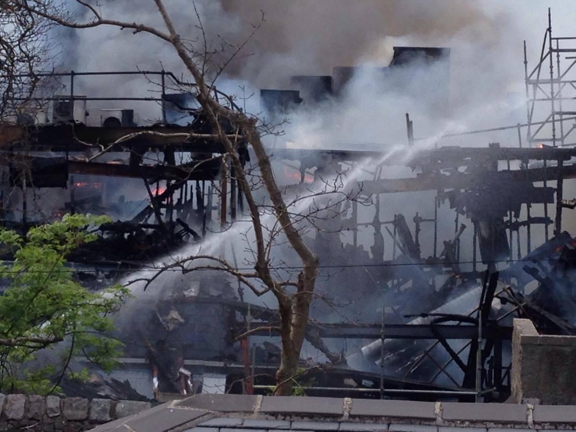 Britannia Hotel destroyed by fire