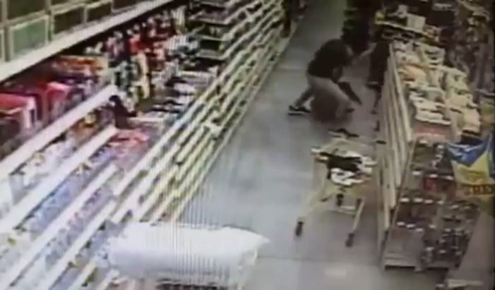 CCTV footage from the shop