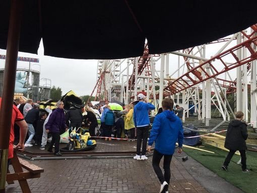 The scene of the accident at M&D's theme park in Lanarkshire