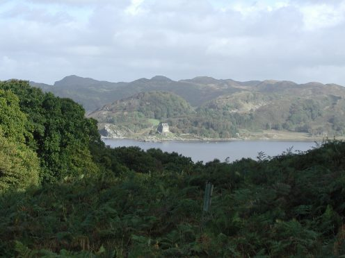 Crinan Woods and Duntrune Castle in Argyll