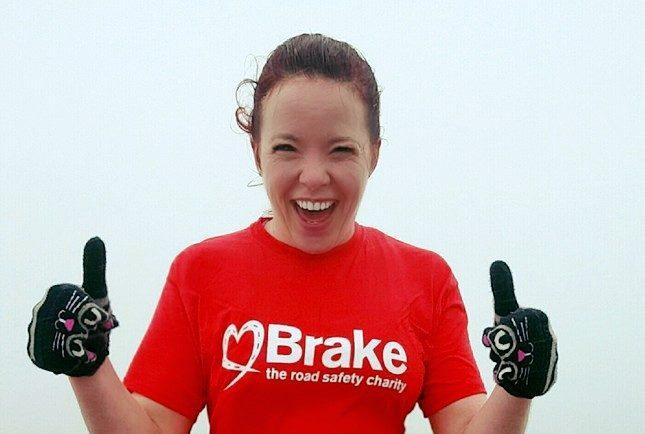 Elaine McPherson on the summit of Ben Nevis