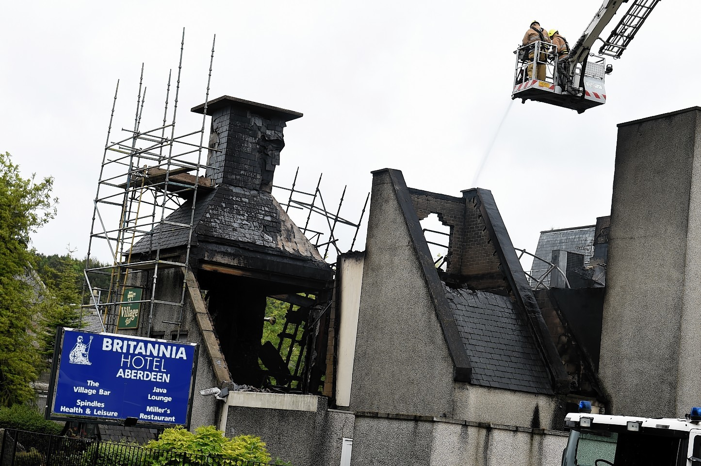 The Britannia Hotel, Bucksburn. Pictures and video by Kenny Elrick.