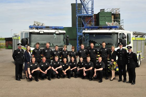 The fire and rescue service's latest recruits in the north-east, following their graduation in Portlethen yesterday.