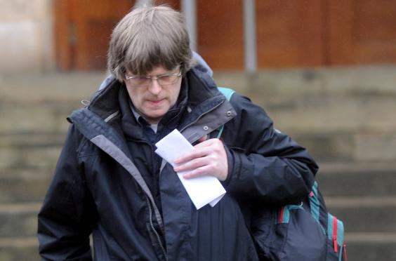 Gary Mackenzie leaving Elgin Sheriff Court