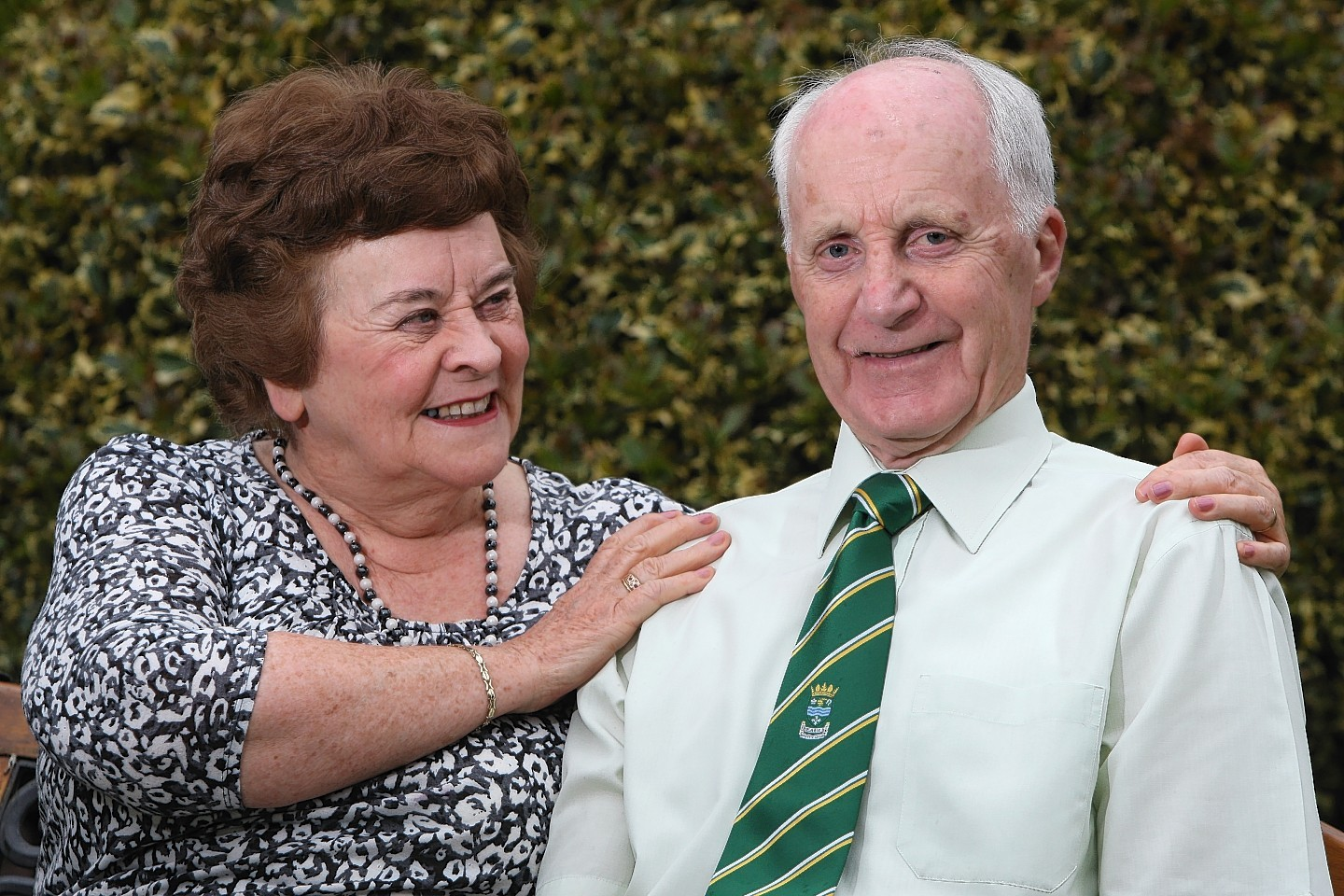 Gerry Grant MBE, co-founder of Highland Cross, with his wife Sheila. Picture: Andrew Smith
